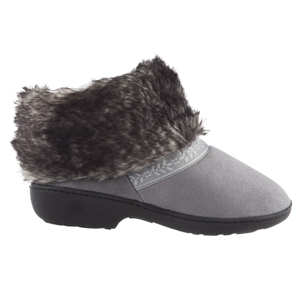 Women's Microsuede Addie Boot Slippers Ash Profile