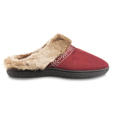 Women's Microsuede Addie Hoodback Slippers in Chili Red Profile