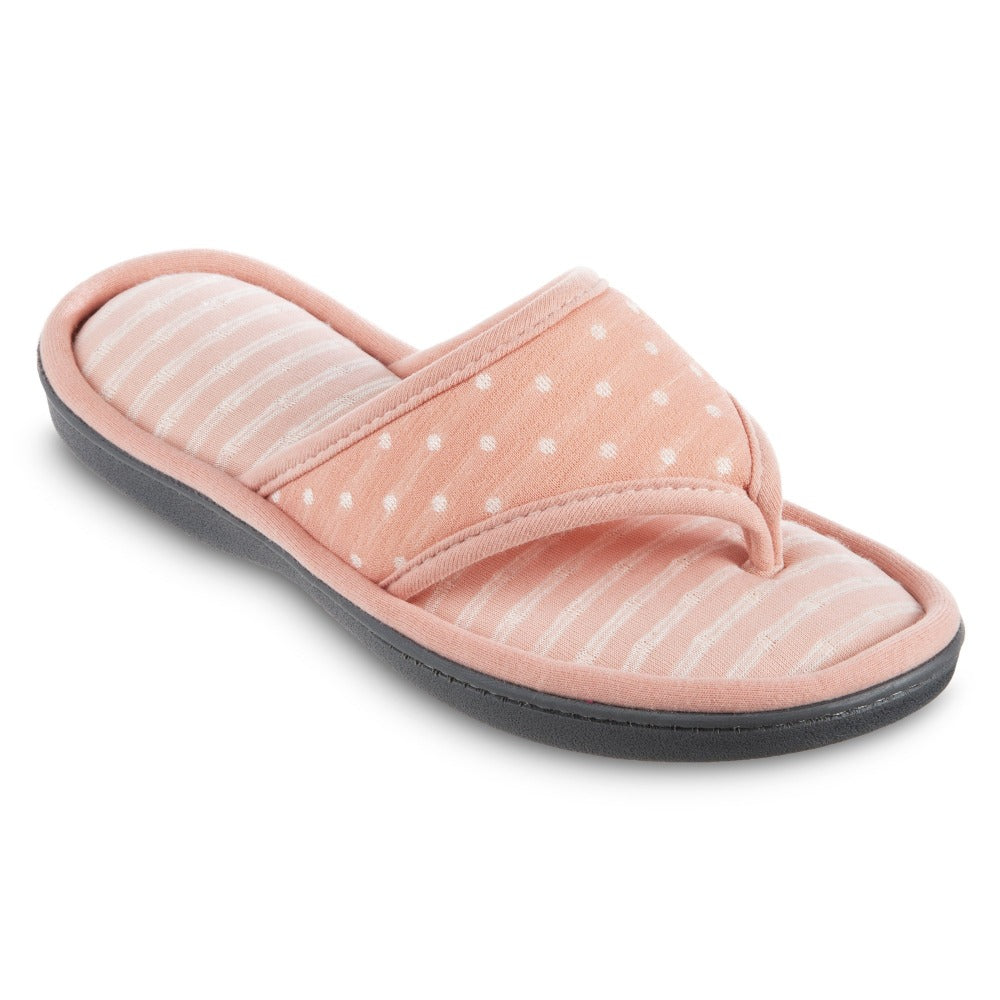 Women's Jersey Ada Thong Slipper in Coraline Right Angled View