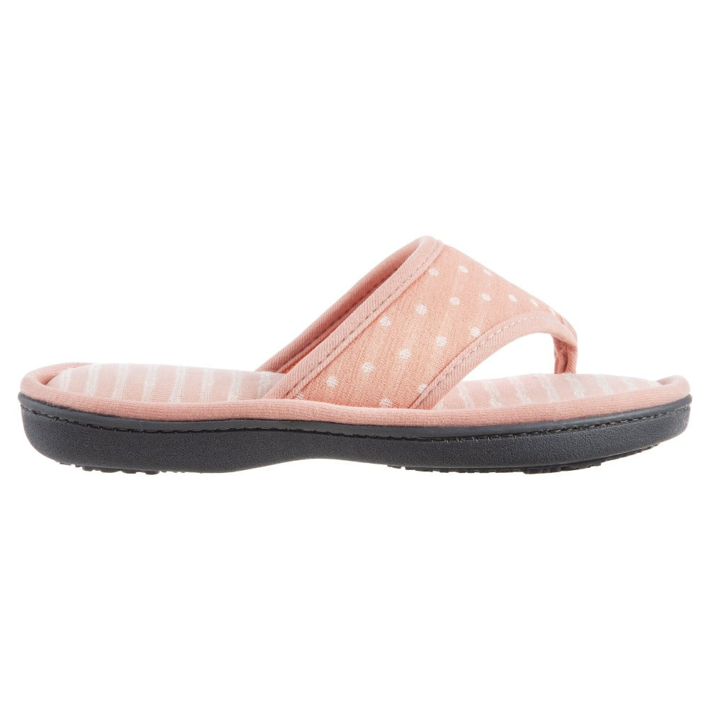 Women's Jersey Ada Thong Slipper in Coraline Side View
