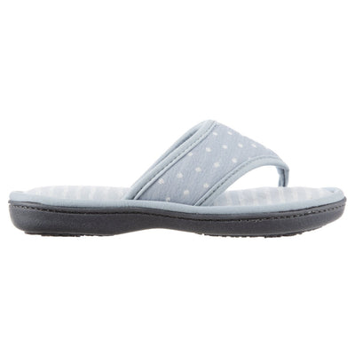 Women's Jersey Ada Thong Slipper in Pool Blue Side View