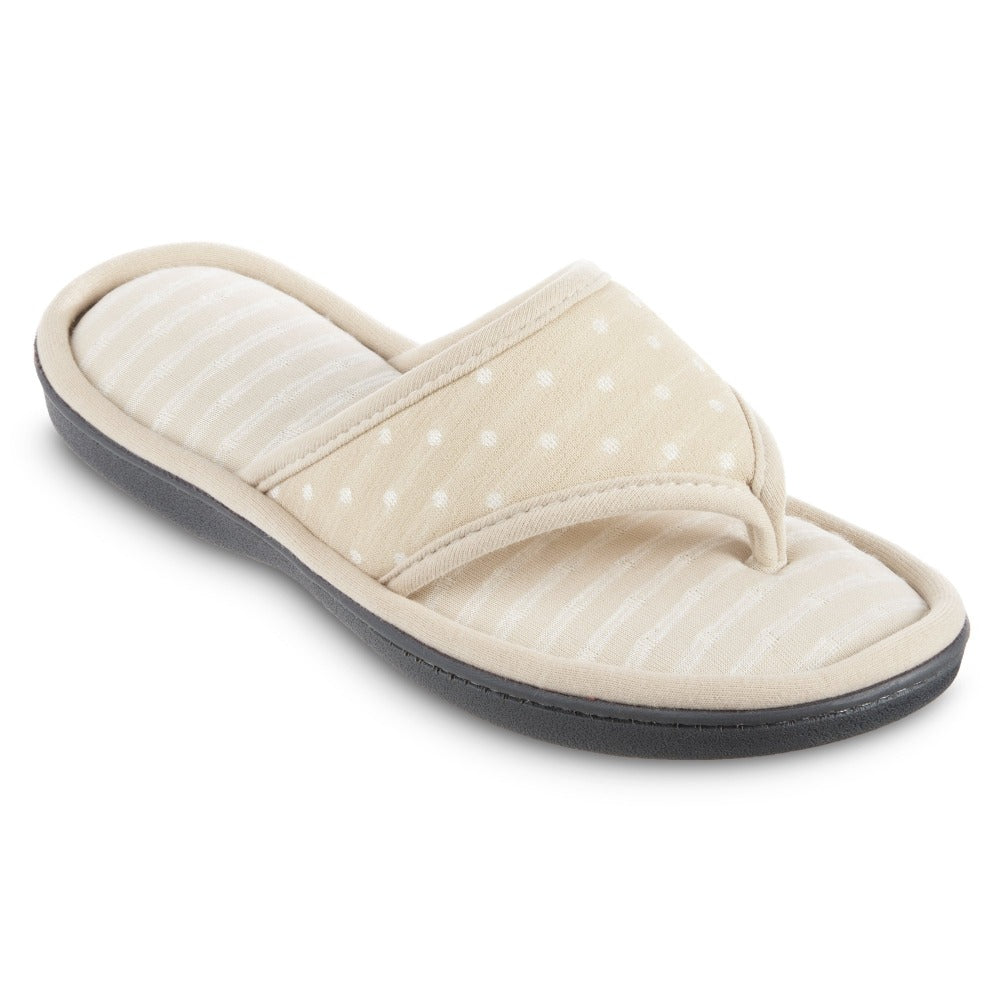 Women's Jersey Ada Thong Slipper in Sandtrap Right Angled View