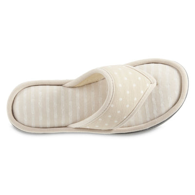 Women's Jersey Ada Thong Slipper in Sandtrap Inside Top View