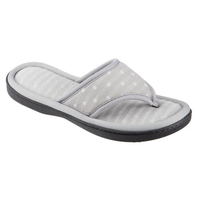 Women's Jersey Ada Thong Slipper in Stormy Grey Right Angled View