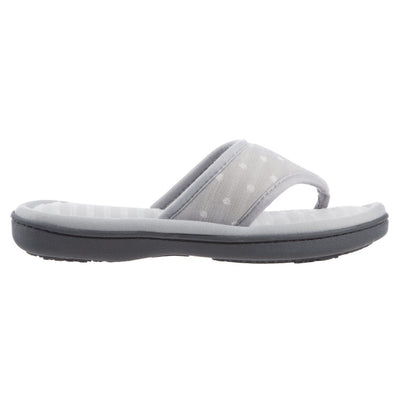 Women's Jersey Ada Thong Slipper in Stormy Grey Side View