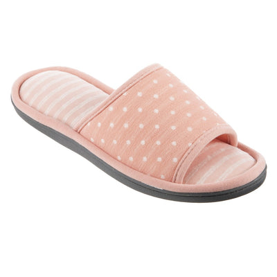 Women's Jersey Ada Slide Slipper in Coraline (Pink) Quarter View