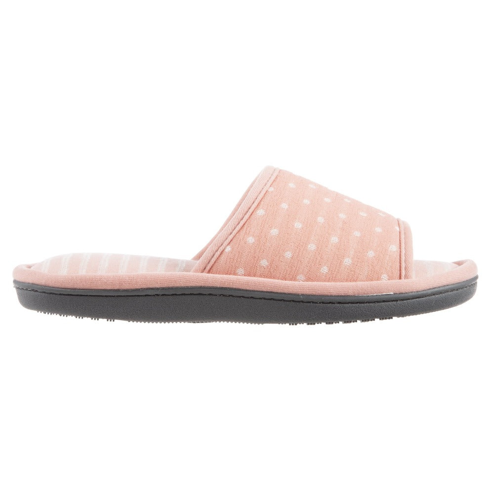 Women's Jersey Ada Slide Slipper in Coraline (Pink) Profile View