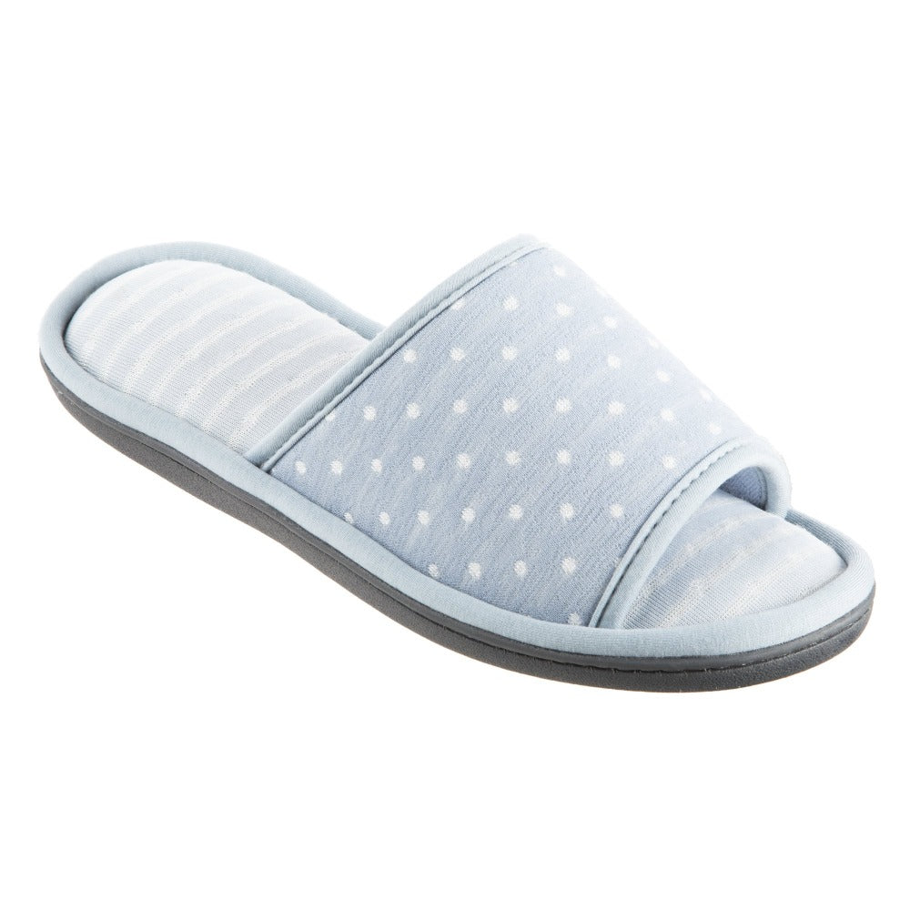 Women's Jersey Ada Slide Slipper in Pool Blue Quarter View