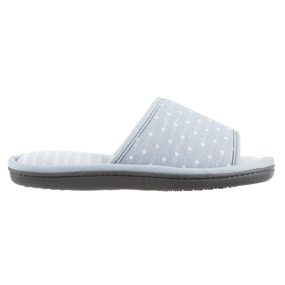 Women's Jersey Ada Slide Slipper in Pool Blue Profile View