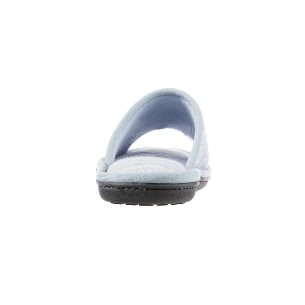 Women's Jersey Ada Slide Slipper in Pool Blue Heel View