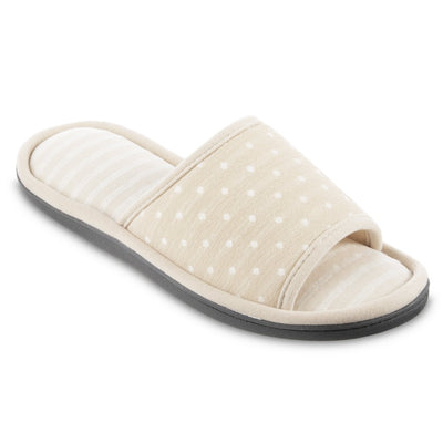 Women's Jersey Ada Slide Slipper in Sand Trap (Beige) Quarter View