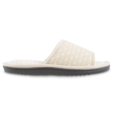 Women's Jersey Ada Slide Slipper in Sand Trap (Beige) Profile View