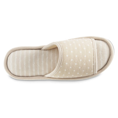 Women's Jersey Ada Slide Slipper in Sand Trap (Beige) Top View