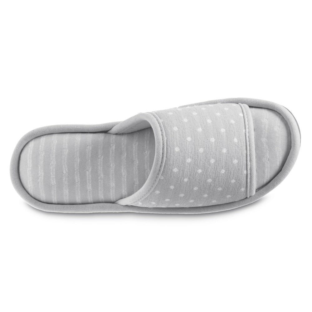 Women's Jersey Ada Slide Slipper in Storm Grey Top View