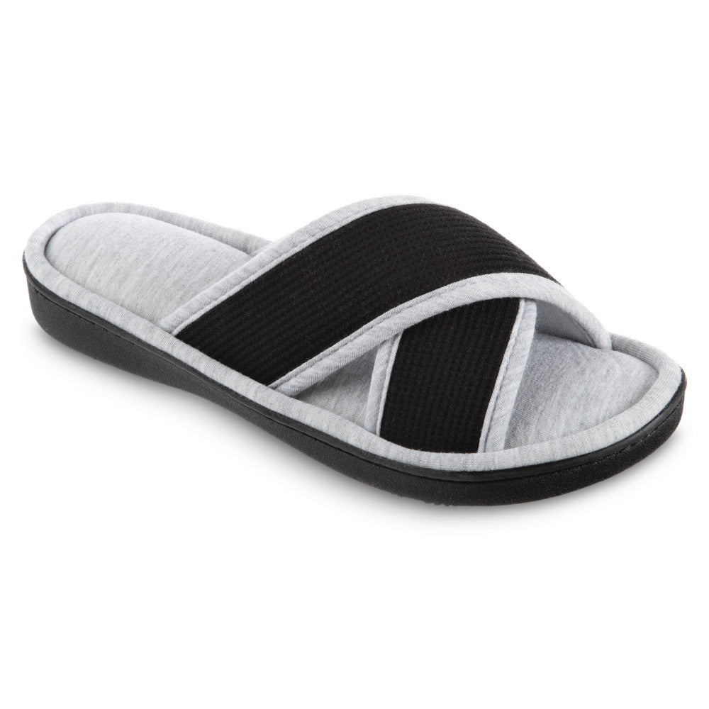 women's helena knit slipper sandal in black