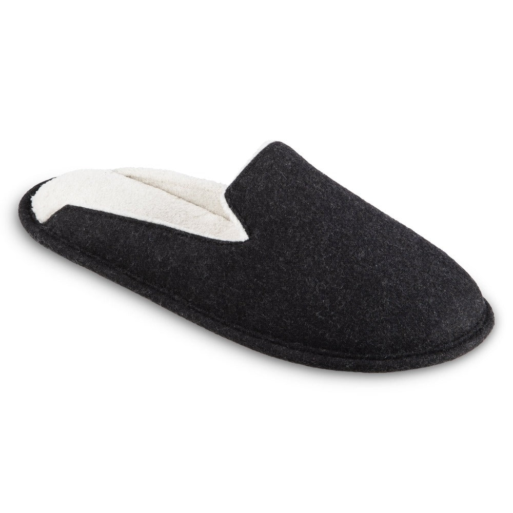 Women's Summer Woolen Randi Clog Slipper in Black Right Angled View