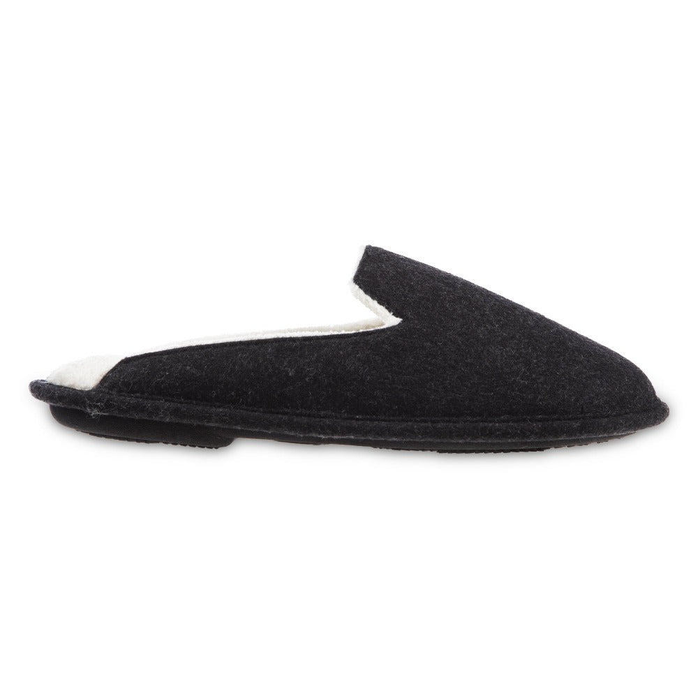 Women's Summer Woolen Randi Clog Slipper in Black Profile