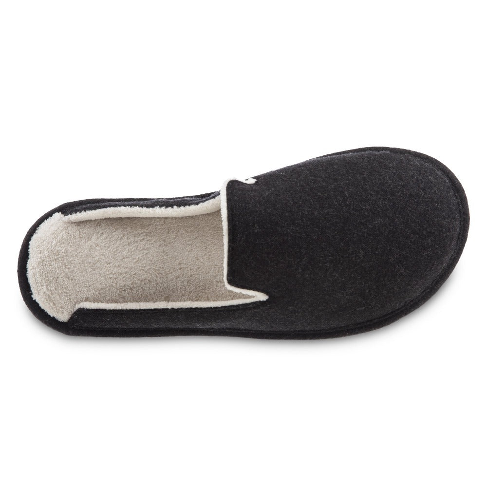 Women's Summer Woolen Randi Clog Slipper in Black Inside Top View