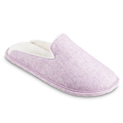 Women's Summer Woolen Randi Clog Slipper in Orchid Right Angled View
