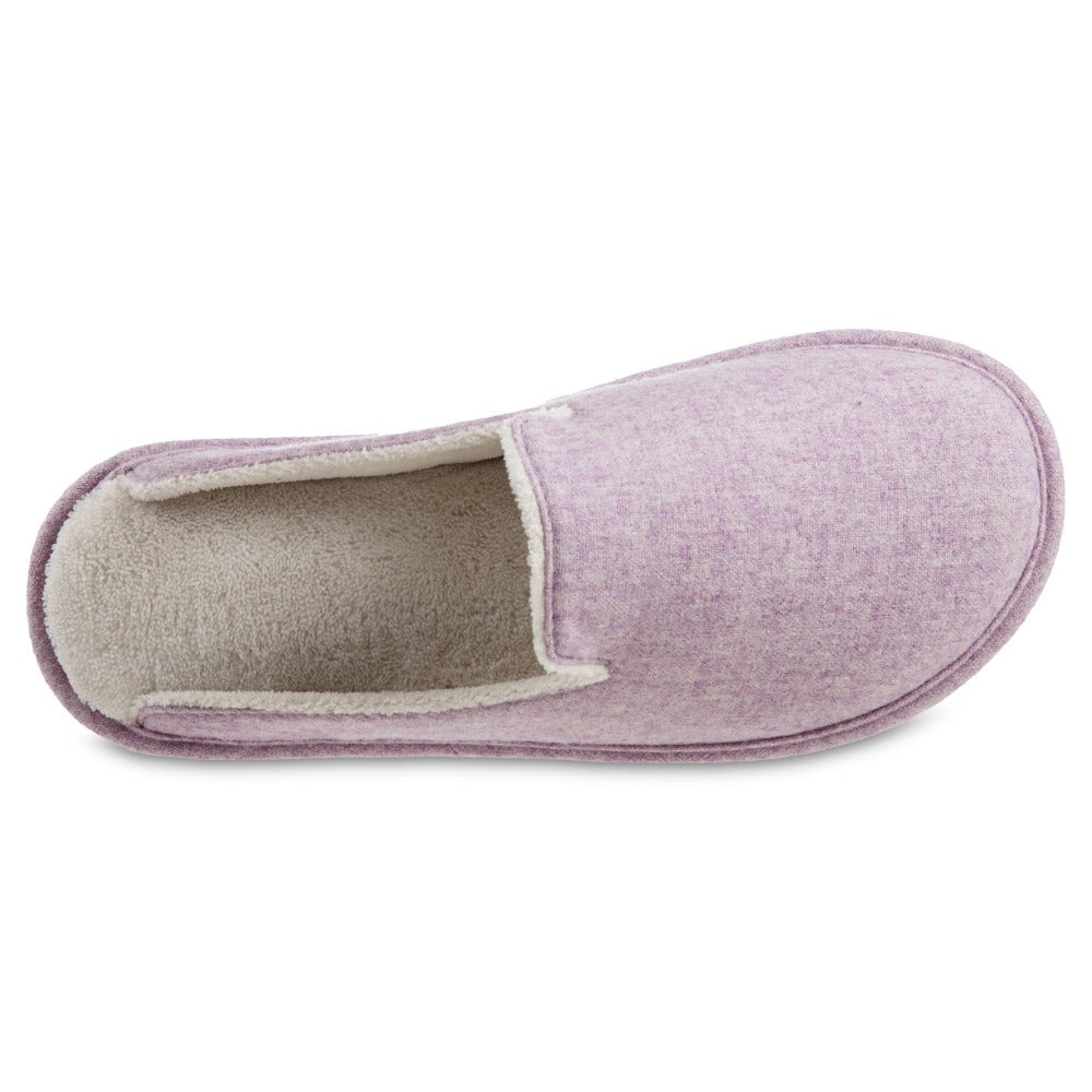 Women's Summer Woolen Randi Clog Slipper in Orchid Inside Top View