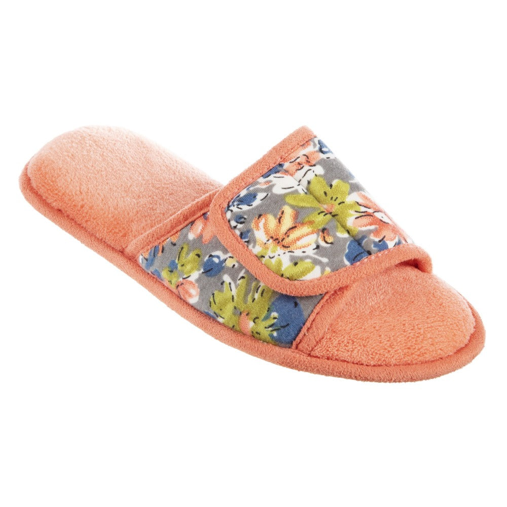 Women's Petunia Floral Slide Slipper in Quarter View