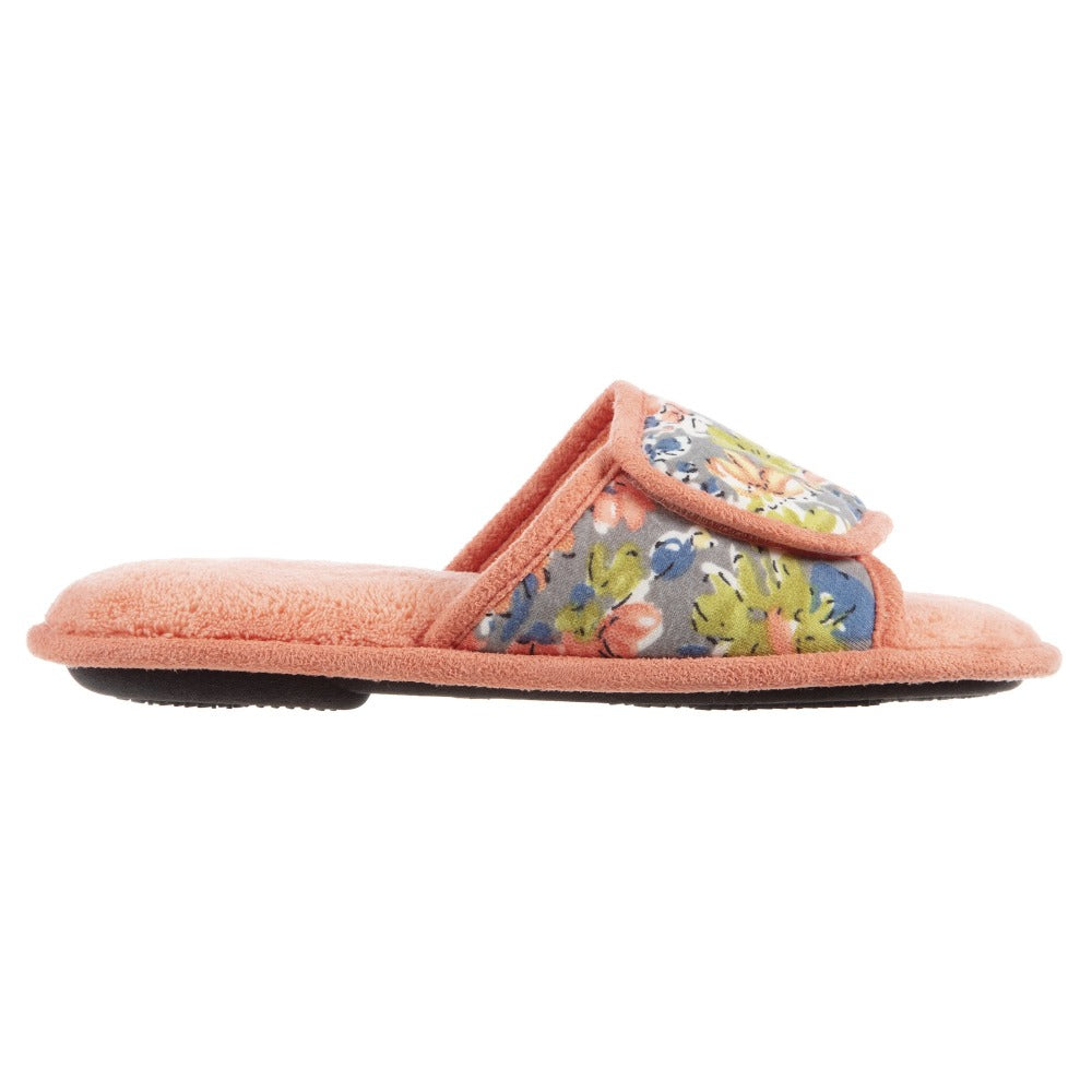 Women's Petunia Floral Slide Slipper in Coraline Profile View