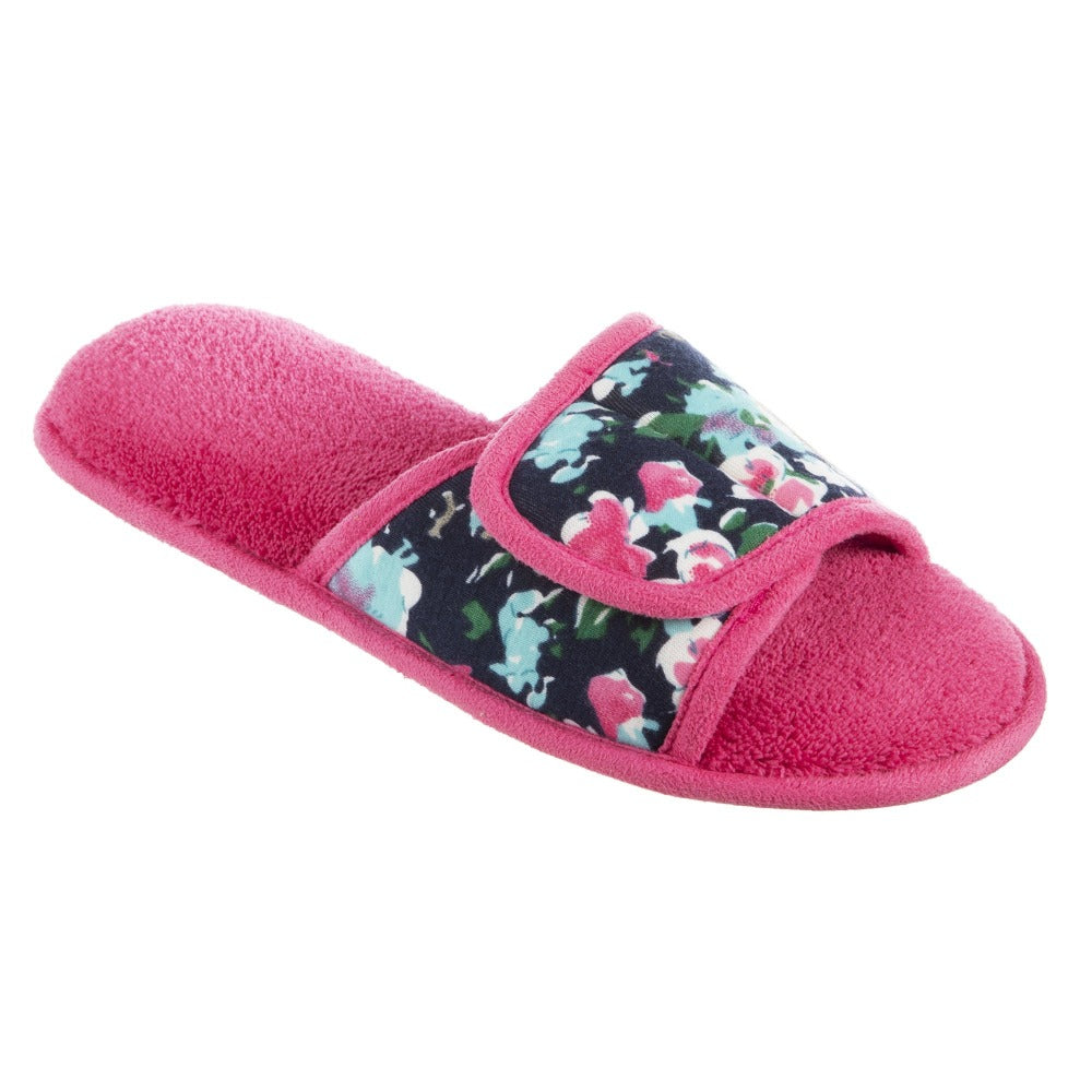 Women's Petunia Floral Slide Slipper in Strawberry (Pink) Quarter View