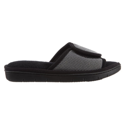 Women's Scout Mesh Adjustable Slide Slippers in Ash Profile