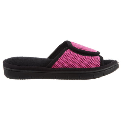 Women's Scout Mesh Adjustable Slide Slippers in Strawberry Bright Pink Profile