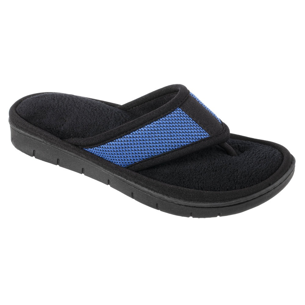 Women's Scout Mesh Thong Slippers in Sapphire Right Angled View