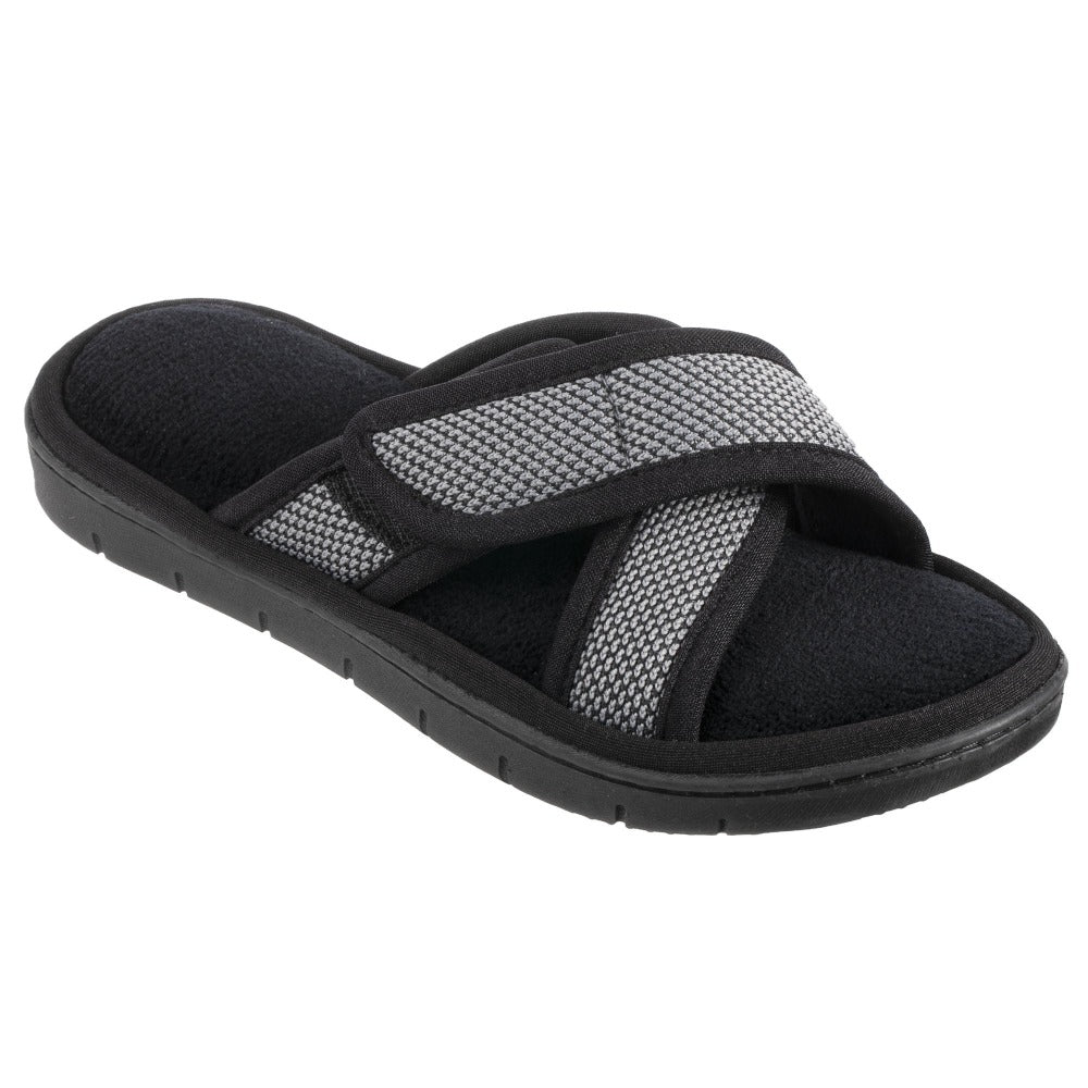 Women's Scout Mesh Cross Slide Slippers in Ash Right Angled View