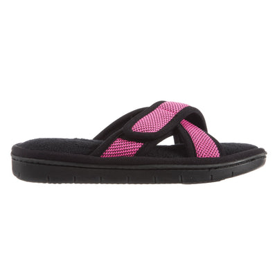 Women's Scout Mesh Cross Slide Slippers in Strawberry Bright Pink Profile