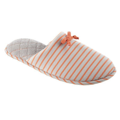 Women's Nani Stripe Clog Slippers in Stormy Grey Right Angled View