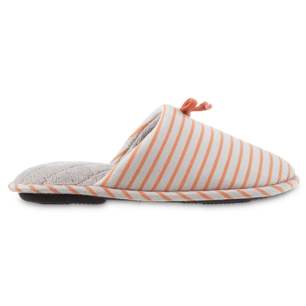 Women's Nani Stripe Clog Slipper in Stormy Grey Profile