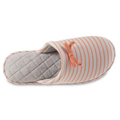 Women's Nani Stripe Clog Slipper in Stormy Grey Inside Top View