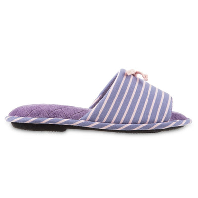 Women's Nani Stripe Slide Slippers in Iris (Purple) Side View
