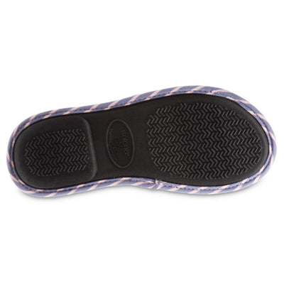 Women's Nani Stripe Slide Slippers in Iris (Purple) Sole View