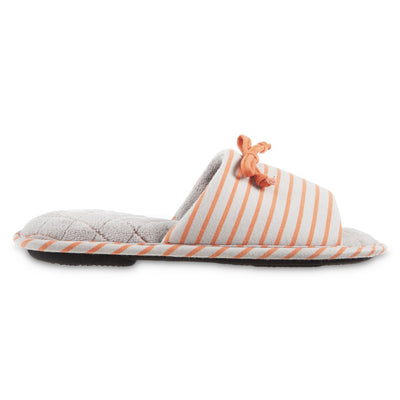 Women's Nani Stripe Slide Slippers in Stormy Grey Profile View