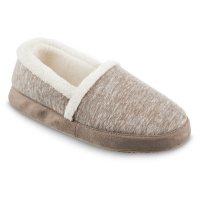 Women's Recycled Heathered Knit Raquel A Line Slipper in Smokey Taupe Right Angled View