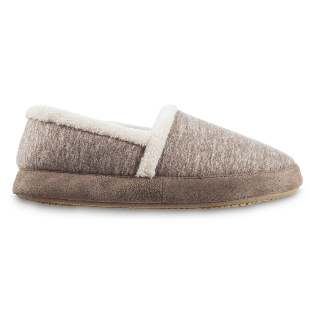 Women's Recycled Heathered Knit Raquel A Line Slipper in Dark Charcoal Heather Profile