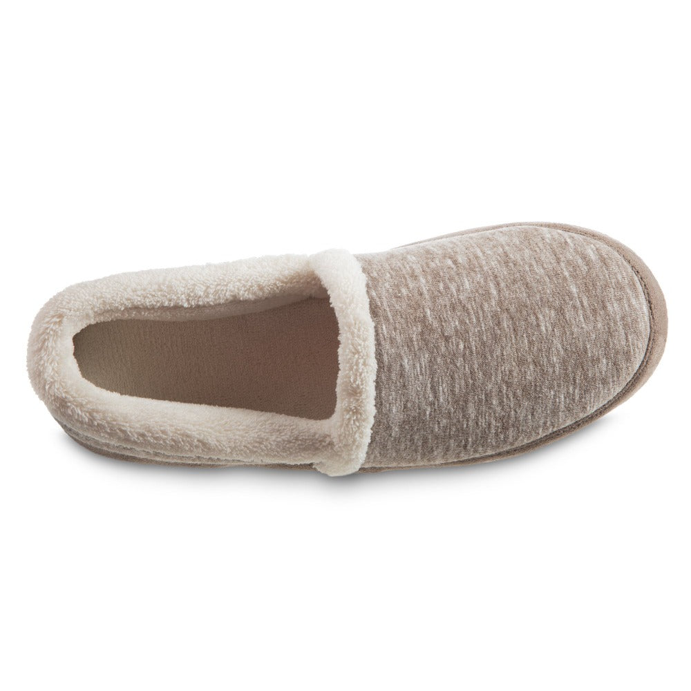 Women's Recycled Heathered Knit Raquel A Line Slipper in Dark Charcoal Heather Inside Top VIew