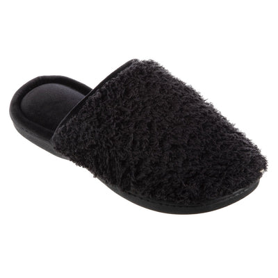 Women's Chenille Parker Clog Slippers in Black Right Angled View