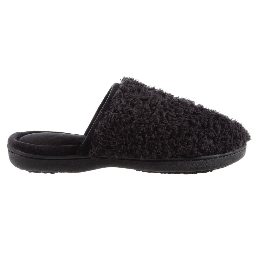 Women's Chenille Parker Clog Slippers in Black Profile