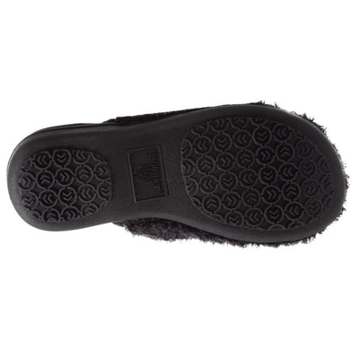 Women's Chenille Parker Clog Slippers in Black Bottom Sole Tread