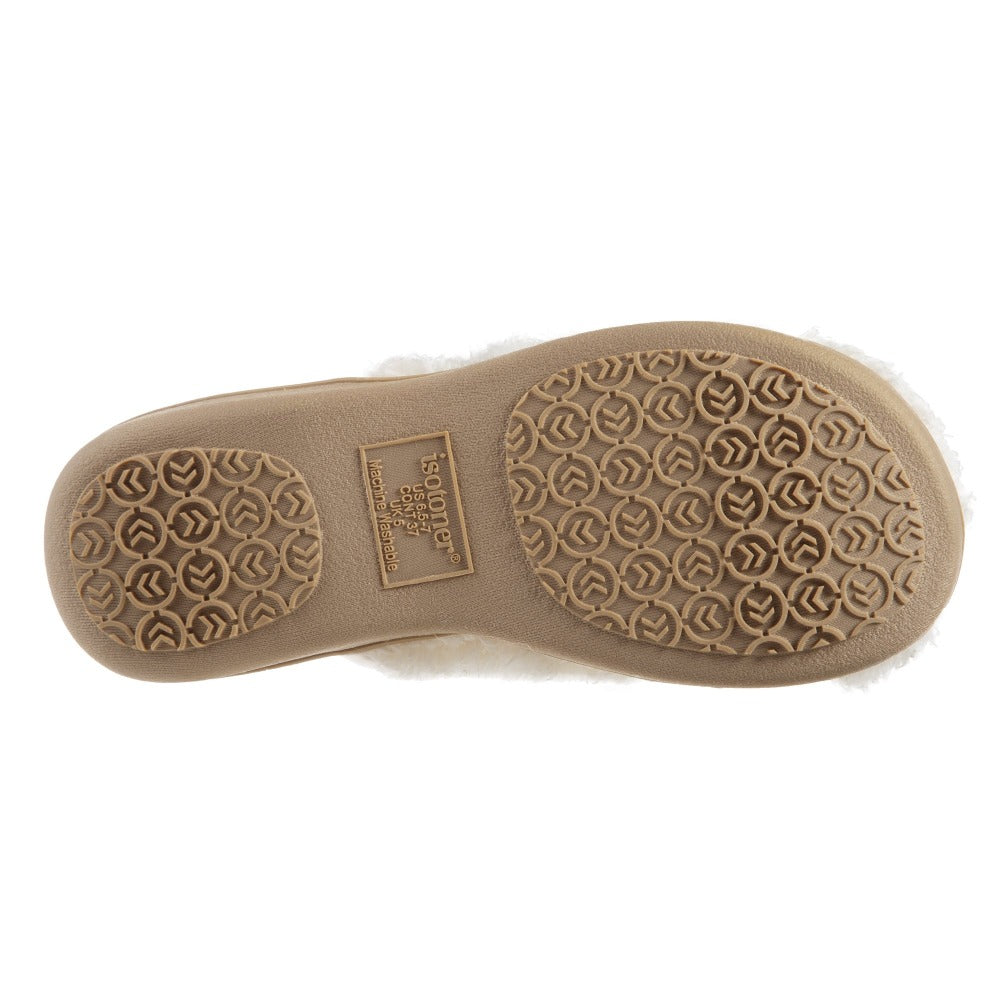 Women's Chenille Parker Clog Slippers in Ewe Bottom Sole Tread