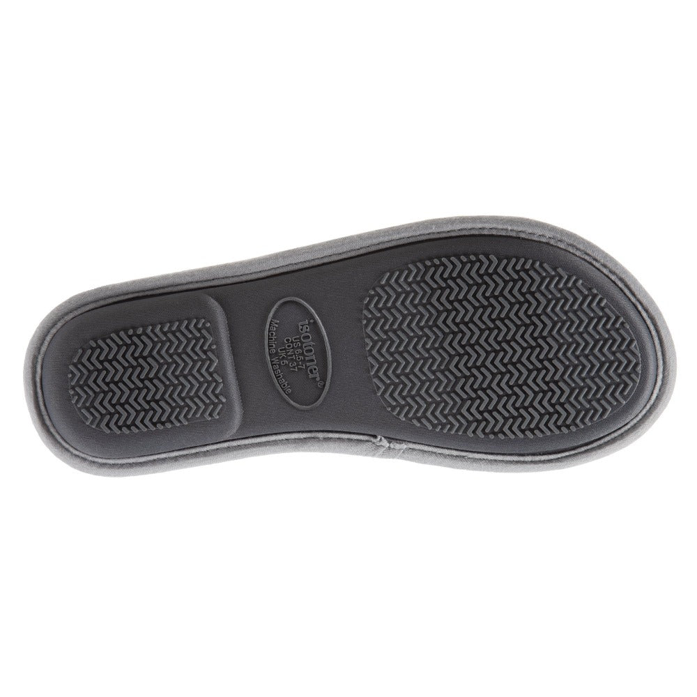 Women's Mother's Day Slide Slippers Ash Grey Sole View