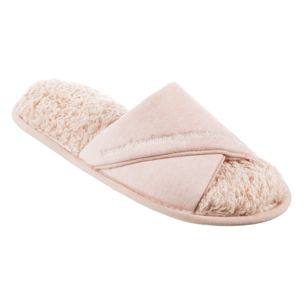 Women's Mother's Day Slide Slippers Evening Sand (Pink) Quarter View