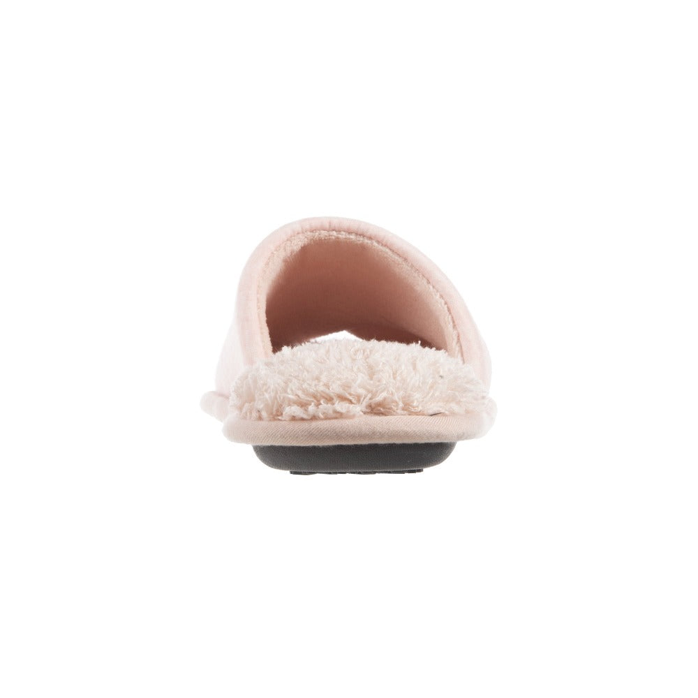 Women's Mother's Day Slide Slippers Evening Sand (Pink) Heel View