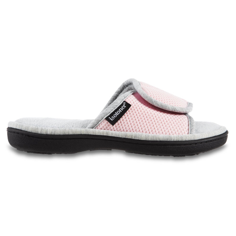 Women's Adjustable Slide Slippers in Peony Pink Profile