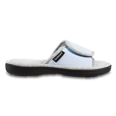 Women's Adjustable Slide Slippers in Pale Blue Profile